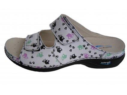 VIENA dámská pantofle pratelná kočky WG8F20 Nursing Care