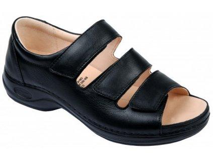 FORTALEZA univerzální zdravotní sandálek černý C1911 Nursing Care 3
