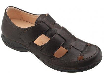 TUA pánský zdravotní sandálek hnědá C1302 Nursing Care 2