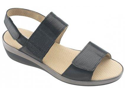 BORA BORA zdravotní sandálek dámská černá C23G11 Nursing Care 3
