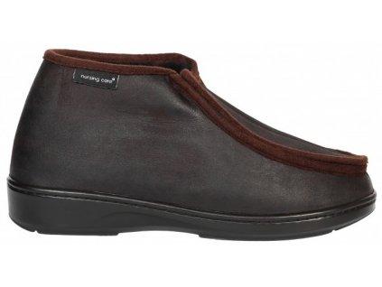 SABUGUEIRO zdravotní obuv pro oteklé nohy unisex hňedá zateplená WW102 Nursing Care 1