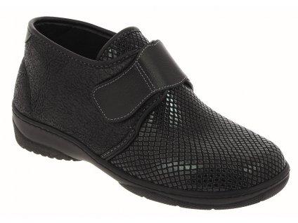MACUMBA zdravotní halluxová obuv dámská lesklá černá PodoWell