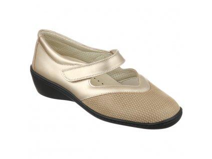 SONIA strečová dámská obuv pro halluxe a kladívkové prsty zlatavá PodoWell