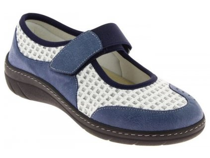 VIRTUEL obuv pro širokou nohu modrá PodoWell
