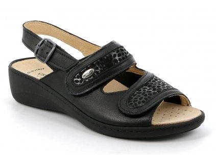 Dámský halluxový sandálek  ESTA SE0417 černá Grunland