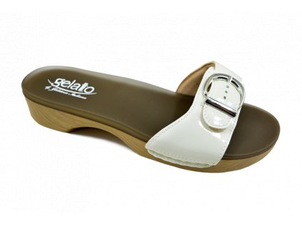 SOLE MIO zdravotní pantofle dámská perleťová PodoWell