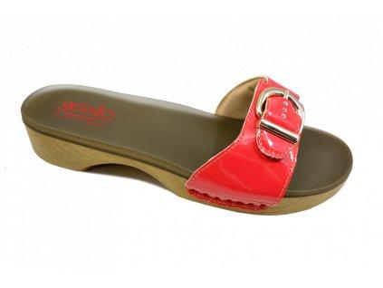 SOLE MIO zdravotní pantofle dámská červená PodoWell