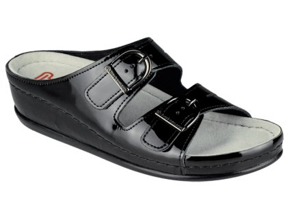 LUNEBURG 00742 960 zdravotní pantofle dámská černá Berkemann 1