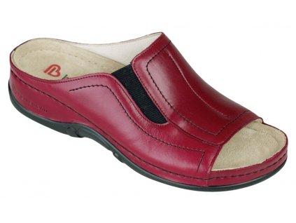 ISABELLA zdravotní pantofle dámská vínová Berkemann