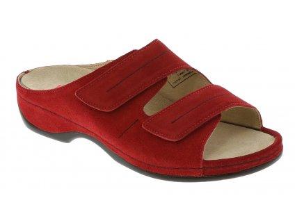 FEDORA zdravotní pratelná pantofle dámská červená Berkemann