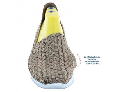 VEGAS sportovní obuv s paměťovou stélkou dámská bronzová PodoWell