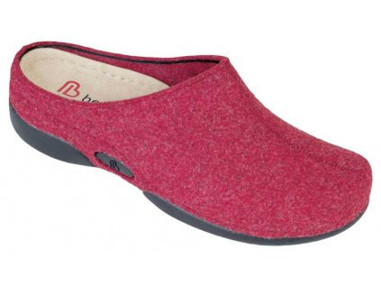 LAUREN domácí filcová obuv dámská červená Berkemann