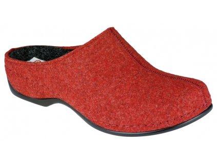 FLORINA domácí filcová obuv dámská červená Berkemann