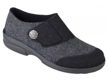 JARLA domácí filcová obuv dámská černá Berkemann