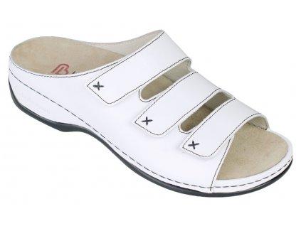 FRANZISKA zdravotní pantofle dámská bílá Berkemann