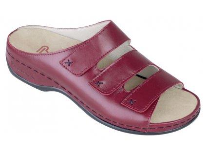 FRANZISKA zdravotní pantofle dámská bordová Berkemann