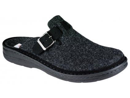 MIRKO domácí obuv pánská filc černá Berkemann