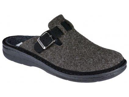 MIRKO domácí obuv pánská filc hnědá Berkemann