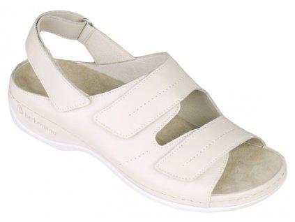 WENKE dámský zdravotní sandálek smetanová 01015-109 Berkemann