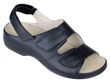 WENKE dámský zdravotní sandálek černá 01015-901 Berkemann
