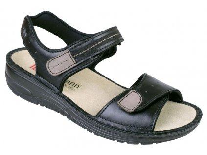 LENI zdravotní sandálek dámský černý Berkemann