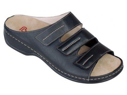 ANDREA halluxový pantofel dámský černý Berkemann