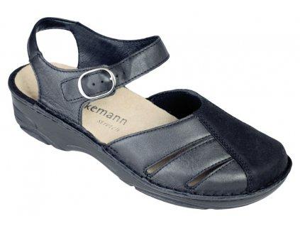 BIRTHE halluxový sandálek plná špice dámský černý Berkemann