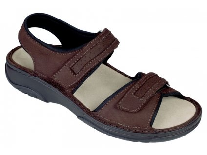 FABIAN zdravotní sandál pánský hnědý Berkemann
