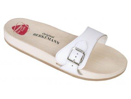 ORIGINAL SANDAL dřeváky unisex bílé Berkemann