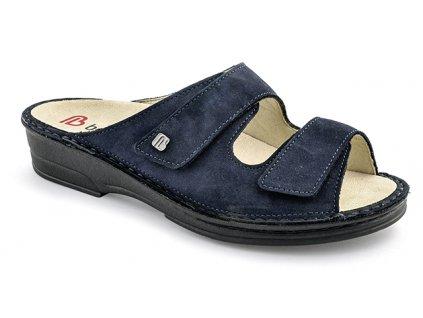 GINA diabetická pantofle dámská modrá Berkemann