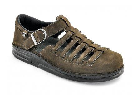 CORSO diabetický sandálek pánský hnědý Berkemann