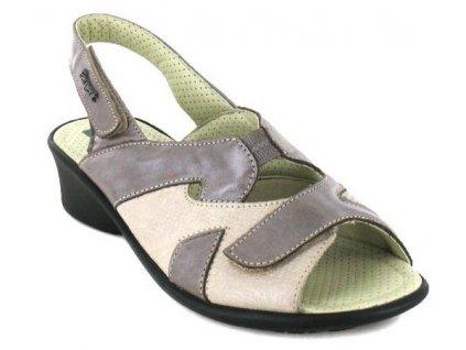 RACHEL halluxový sandálek dámský taupe Fargeot
