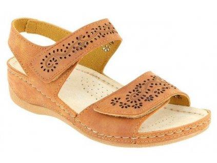 FAUSTINE zdravotní sandálek dámský zlatavý PodoWell