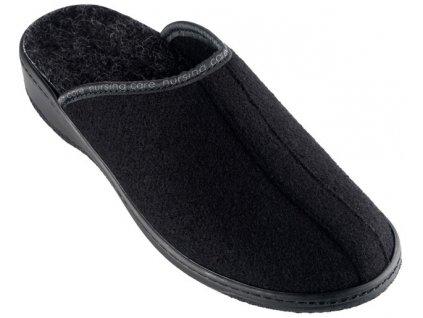 SOBREIRO filcová domácí obuv unisex černá WW211 Nursing Care 1