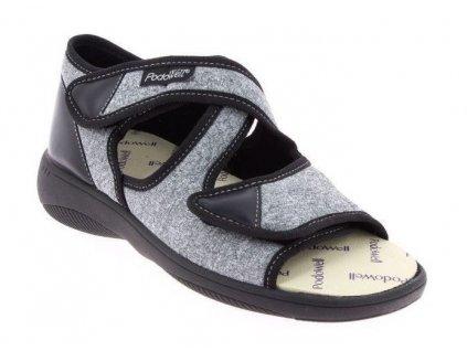 ATLAS zdravotní sandál unisex černý PodoWell