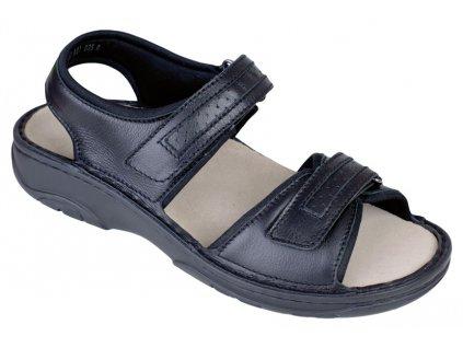 FABIAN zdravotní sandál pánský černý Berkemann