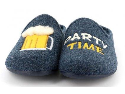LECY CI2774 pánská domácí pantofle modrá pivo Grunland zdravotní 1