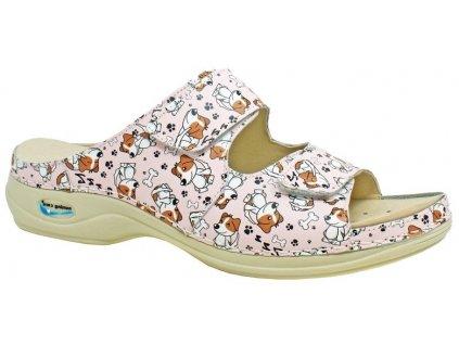 VIENA dámská pantofle pratelná pejskové WG8F53 Nursing Care