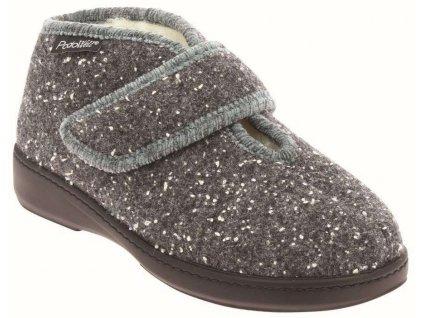 DANIELA dámská teplá domácí obuv šedá PodoWell 1