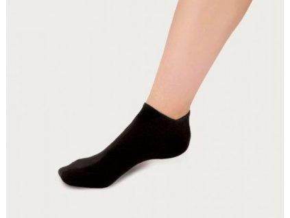 Dámské ponožky 3 v 1 pro halluxy černá PodoSolution 1