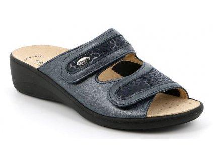 ESTA CE0701 dámské halluxové pantofle modré Grunland 1