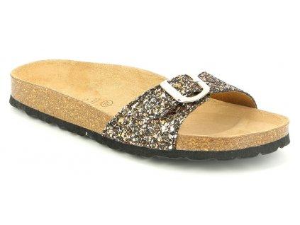 SARA CB0436 dámská pantofle bronzová Grunland 01