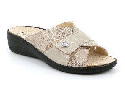 ESTA CE0700 dámská pantofle béžová Grunland 1