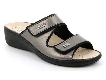 ESTA CE0186 dámská pantofle cínová Grunland 1
