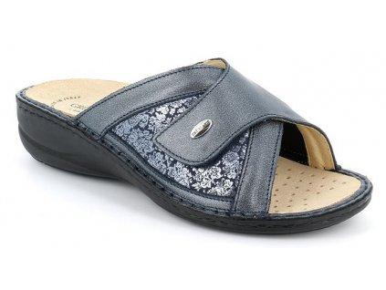 DARA CE0674 elastická pantofle modrá Grunland 1