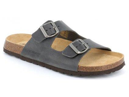 BOBO CB1631 pánské pantofle antracitová Grunland 5
