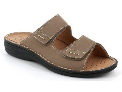 LINO CE0159 pánské pantofle kaki Grunland 1