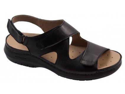 CAMÉLIA C5611 sandálek dámský černý Nursing Care 1