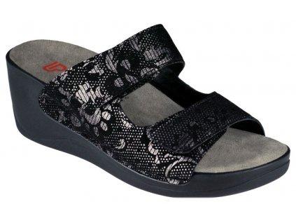 CALLISTA 1201 978 dámská pantofle černá s bronzovým motivem Berkemann