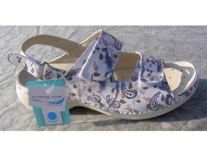 HELSINKI pracovní kožený pratelný sandál s certifikací dámský cornucopia WG9F14 Nursing Care 2
